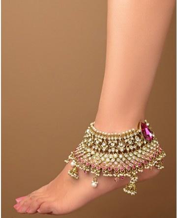 Индийские ножные браслеты своими руками 47