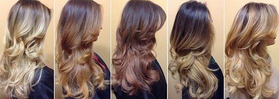 Окрашивание омбре прямые волосы фото