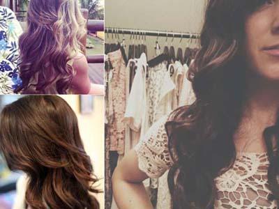 длинные волосы с накладными прядями