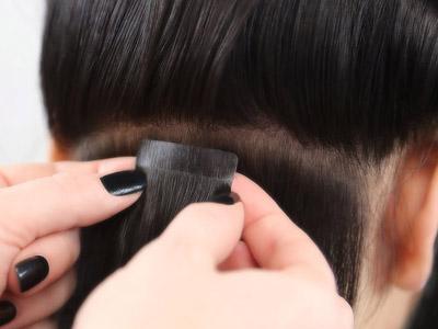 Наращивание волос прядями на клипсах