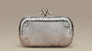 Винтажный серебряный клатч от Bottega Veneta