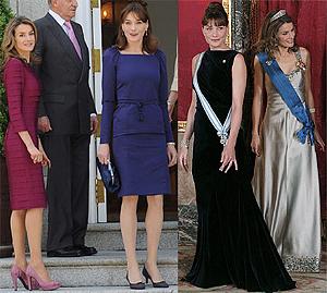 Королевский стиль: Карла Бруни встретилась с испанской принцессой Летицией