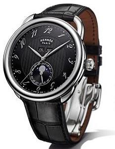 Hermes представил модель мужских часов с индикатором фаз Луны