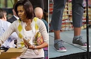 Мишель Обама в кросовках от Lanvin