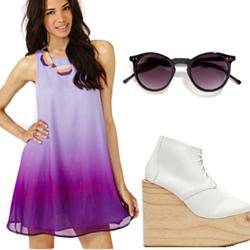 фото лиловые платья