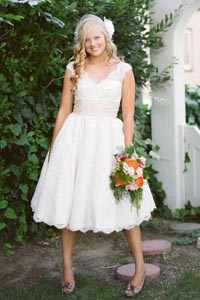 Свадебное платье короткие на полных
