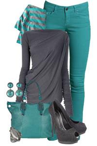 фото цвет бирюза в одежде