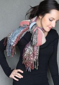 Идеи с шарфом фото