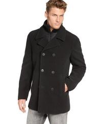 С чем носить пальто бушлат мужское
