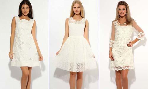 Белые платья от известных