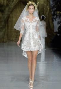 Дизайнерских короткие свадебные платья фото
