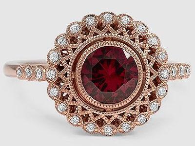 как выбрать золотое кольцо с рубином