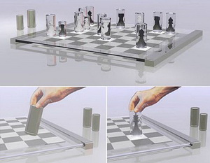 Aliсe Chess Set - прозрачные шахматы из Зазеркалья