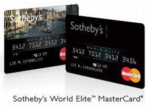 Гарантия эксклюзивности: пластиковая карта Sotheby's MasterCard