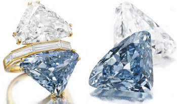 На Christie's представлено кольцо Bulgari с редчайшим голубым бриллиантом