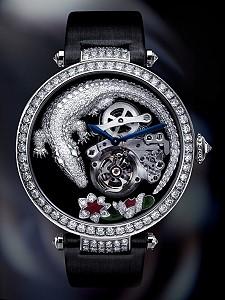 Часы с драгоценной рептилией от Cartier