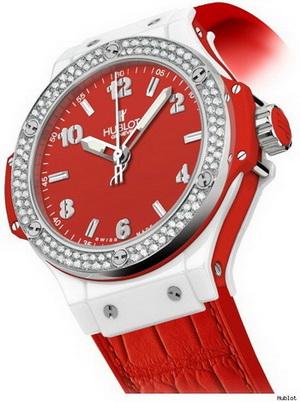 Hublot Big Bang Red - женские часы в подарок ко дню всех влюбленных