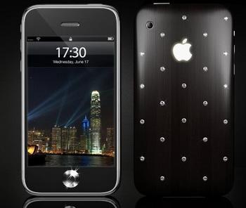 iPhone 3GS украсили бриллиантами