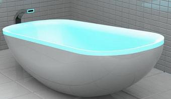 Студентка создала ванну, светящуюся в ритме музыки