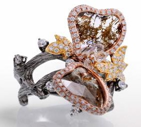 Колечко-бабочка от Lugano Diamonds