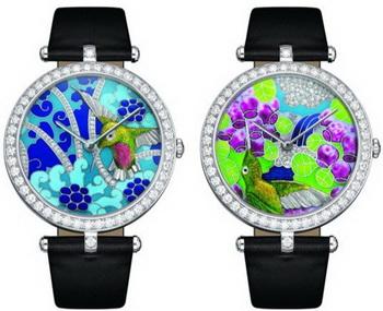 Коллекция женских часов Lady Arpels Extraordinary Hummingbirds от Van Cleef & Arpels