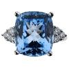 Обручальные кольца с голубыми топазами - новая концепция
