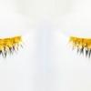 Накладные ресницы из 24-каратного золота - тренд лета