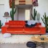 Оранжевый цвет в интерьере гостиной: настрой на позитив