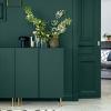 Зеленый цвет в интерьере гостиной: свойства, стили, сочетания
