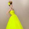 Цветные свадебные платья: яркая альтернатива