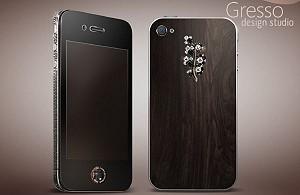 Gresso представил новый дизайн iPhone 4 с черными бриллиантами