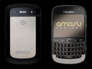 Золотые телефоны Blackberry Bold 9900 от Amosu Couture