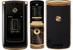 Роскошь золота и кожи от Motorola RAZR2
