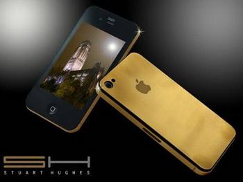Золотой iPhone 4G от Стюарта Хьюджеса